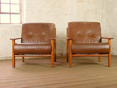Pair Mid Century Retro Easy Cocktail Arm Chair Armchair Sessel Vintage 50s 60s
