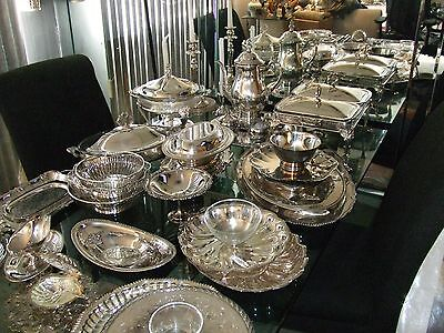 Vintage silverplate Wedding/Banquet/Catering Mixed Lot Gorham+MORE 80 pcs.lot3