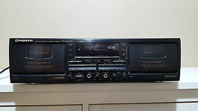 Pioneer Stereo Double Cassette / Tape Deck Player CT-W803RS