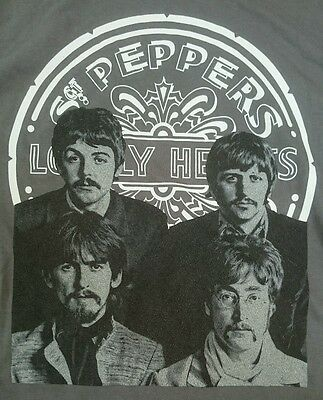 2013 The Beatles Sgt. Peppers Officially Licensed T-Shirt Size M Grey Lennon