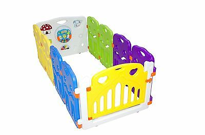 10 Panel Portable Foldable Kids Baby Indoor Outdoor Saftey Game Playpen Fence UK