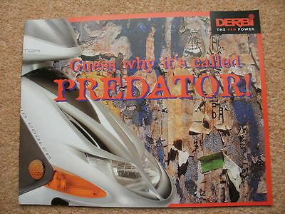 Original Derbi Predator LC O2 scooter brochure 2000