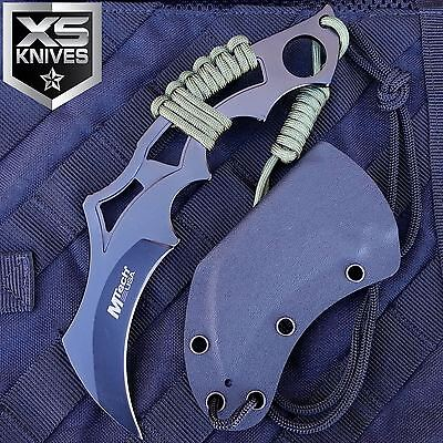 "8"" MTECH Tactical KARAMBIT Fixed Blade Combat Hunting NECK Knife w/ Sheath"