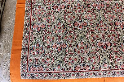 "Antique Vintage French c1900 Paisley Medallion Cotton Bandana~Womens Wear~27"" Sq"