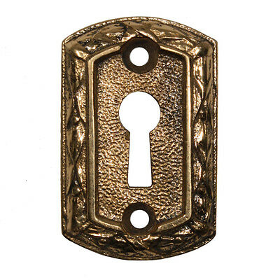 Antique Cast Brass Keyhole Escutcheons by Sargent, 9 Available, NKC13