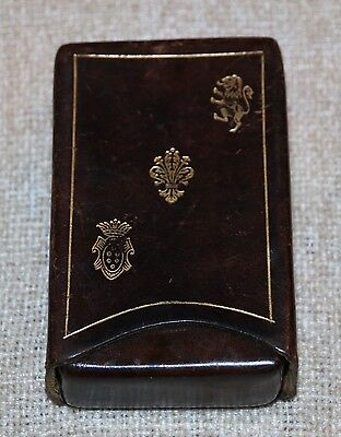 Vintage Leather Playing Card Box