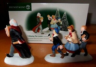 """Dept 56~Dickens' Village Accessory~Set Of 2~""""following The Leader"""" #58526~ Mib"""