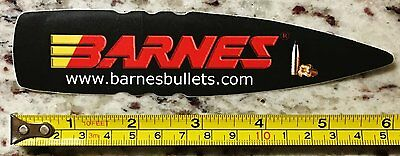 "6"" Barnes Bullets Sticker Ammunition Firearms Decal Hunting"