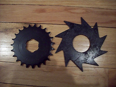 Vintage Industrial Machine Age Steel Harley Gear & Steampunk Altered Art Cog