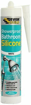 Everbuild SHOWWE C3 Showerproof Bathroom Silicone Sealant White Flexible Rubber