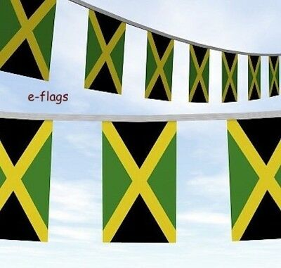 Massive 100Ft Of Jamaica Jamaican Flag Bunting Bob Marley Roots Rasta Reggae