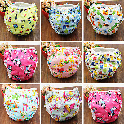 Reusable Swim Nappy Baby Toddler Print Cover Diaper Pants Swimmers 0-3Y