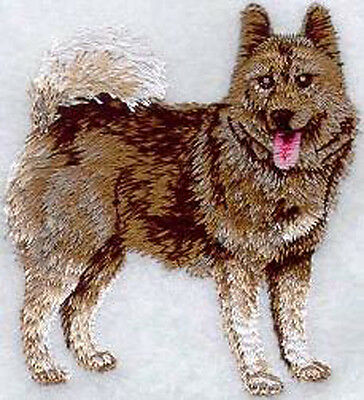 Norwegian Elkhound Stance  Embroidery Patch
