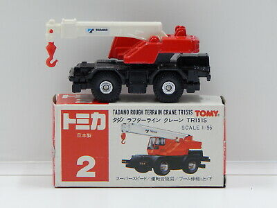 1:96 Tadano Rough Terrain Crane TR151S - Made in Japan Tomica 2