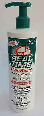 Real Time Pain Relief 16 oz Pump Relief in Minutes + Free Shipping Priority Mail