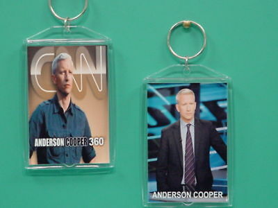 ANDERSON COOPER - CNN - with 2 Photos - Designer Collectible GIFT Keychain 02