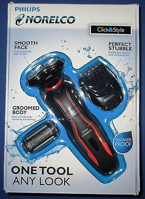 Philips Norelco S738/82 Click & Style Wet/Dry Trimmer *New *Free Shipping!!!