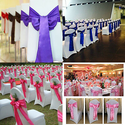 10 50 100 Satin Sashes Chair Bow Sash Wider Sashes Ribbon For A Fuller Bow Knot