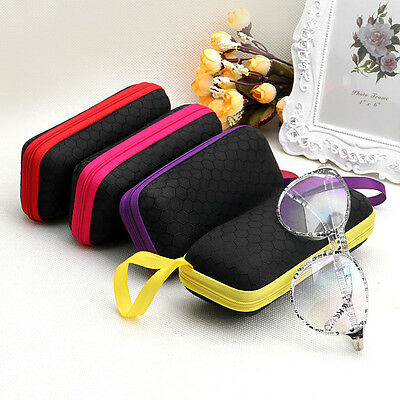 Portable Zipper Sunglasses Hard Eye Glasses Case Eyewear Protector Box Bag