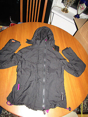 Superdry Professional the Windcheater Womens size S Black and Purple