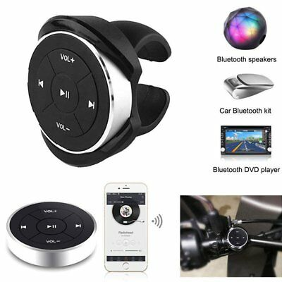 Wireless Bluetooth MP3 Media Remote Control Button Car Steering Wheel Bike Mount