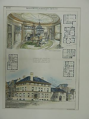 Residence&Stable for Mr. J.A. Lynch, Chicago, IL, 1894, Original Plan.