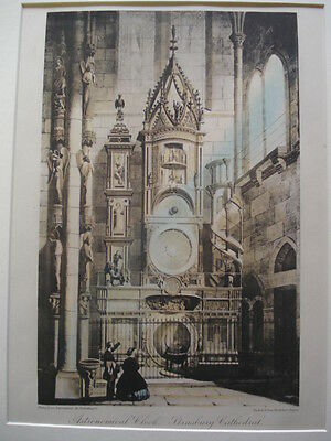 Astronomical Clock, Strasburg Cathedral, France,1886- Hand-Colored