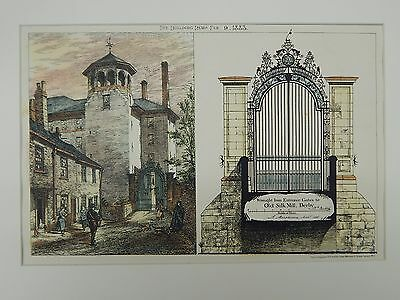 Wrought Iron Entrance Gates, Old Silk Mill, Derby, England, 1883, Original Plan