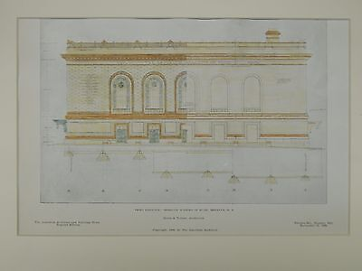 Front Elevation, Brooklyn Academy of Music, Brooklyn, NY, 1906, Original Plan