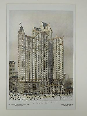 City Investing Co.'s Building, Broadway, New York, NY, 1906, Original Plan