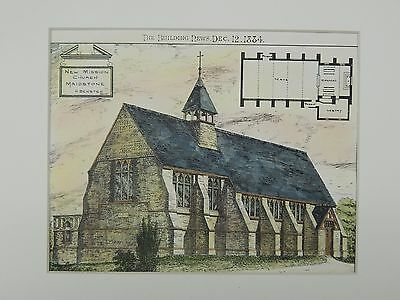 New Mission Church, Maidstone, Kent, England, 1884, Original Plan