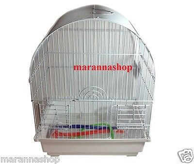 Bird Cage Aviary Parrots Canaries Rodents Metal With Baig