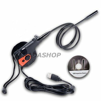 USB HD Endoscope Inspection Camera Borescope Waterproof 6 LED Video Tape Style