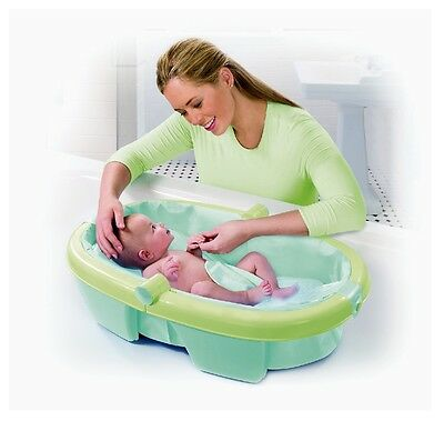 Summer Infant Fold-Away Newborn to Toddler Baby Bath for Easy Storage Durable