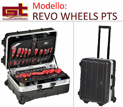 Valise Caisse Revo Wheels Pts Trolley - Gt Line ABS avec Chariot Roues