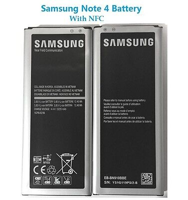 Original GENUINE OEM Battery for Samsung Galaxy Note 4 N9100/G 3220mAh with NFC