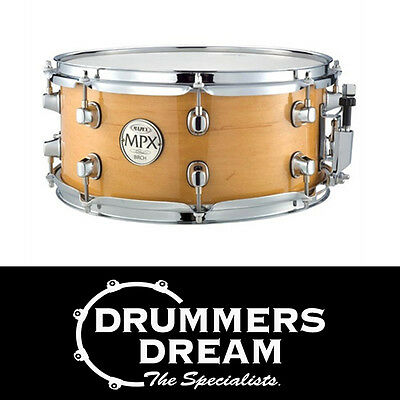 """MAPEX MPX 14"""" x 5.5"""" Birch Snare Drum Natural Gloss Finish - BRAND NEW"""