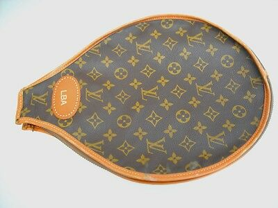 Authentic Louis Vuitton Vintage Monogram Tennis Racket Cover Free Shipping