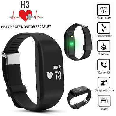 H3 Smart Wrist Watch Bracelet Heart Rate Monitor Tracker for IOS Android UK