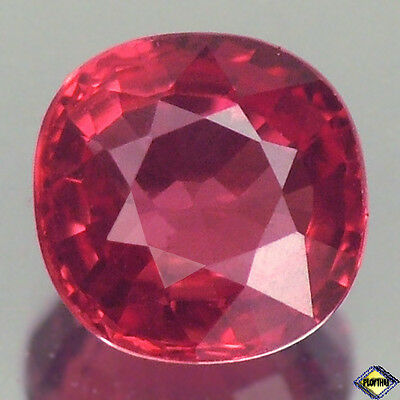 Exceptional Vvs Cushion Vivid Fiery Red Ruby Natural
