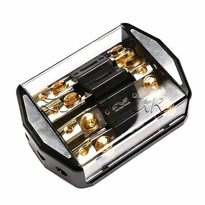 Auto Car Audio Power Stereo Inline 4x100A Insurance Distribution Block Fuses
