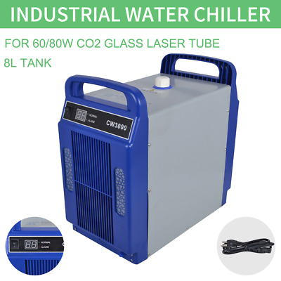 CW-3000 110/220V Thermolysis Industrial Water Chiller for 60/80W CO2 Glass Tube