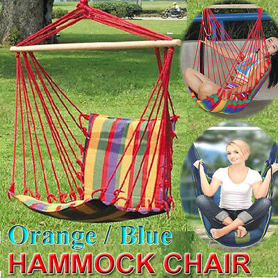 Comfort Swinging Hanging Garden Home Fabric Hammock Chair Relax 120KG Limit AU