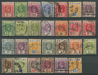 Ceylon  KGV collection incl. perf varieties