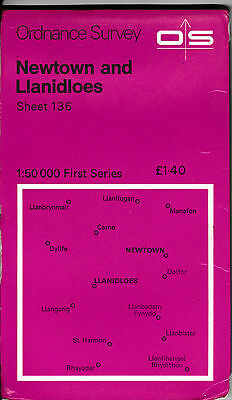 Ordnance Survey Landranger Map Sheet 136 Newtown & Llanidloes Dylife 1974 OS