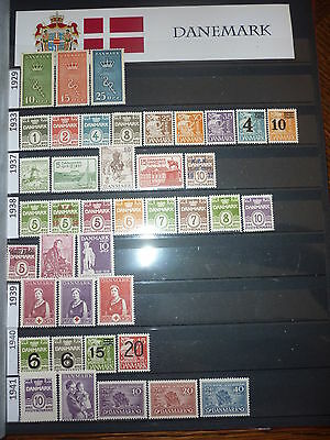 Danemark Collection 358 Timbres Neufs 1929-1984