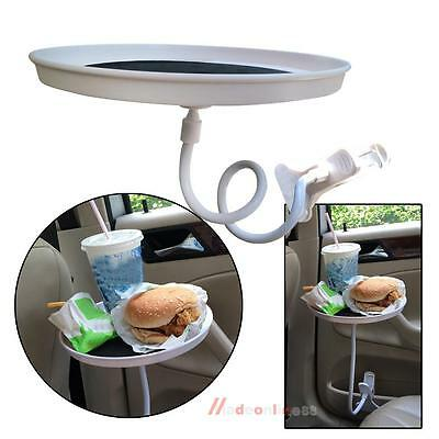Car Van Mount Holder Stand Table Tray Adjustable Desk w/Clip for Food Cup Drink