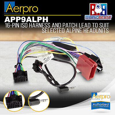 Aerpro Alpine To Iso With Iso / Patch Lead Iso / Patch Lead