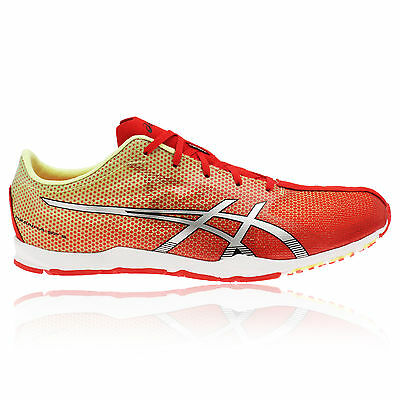 ASICS PIRANHA SP5 Mens Red Cushioned Racing Running Trainers Shoes Pumps