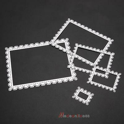 5X Rectangle Wave Embossing Cutting Dies Stencil for DIY Scrapbooking Photo Card